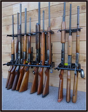 Vertical Wall Rifle Racks For Safe Gun Storage