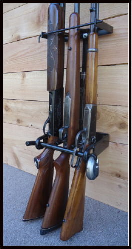 Wall Mounted Gun Rack For 3