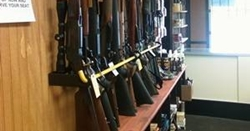 gun rack for gun stores