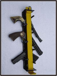 Locking Handgun Rack for 3 Pistols