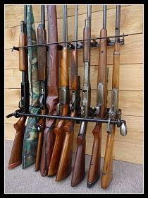 9 gun - locking gun rack for standard style rifles and shotguns