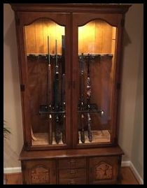 Both Rifle Racks Can Be Mounted Inside Gun Display Cabinets for Safe Storage